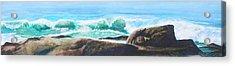 Widescreen Wave Acrylic Print by Ken Meyer