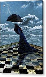 Widow In The Rain Acrylic Print