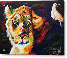 Wife Of Noah Acrylic Print by Veronica McDonald