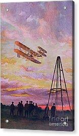 Wilbur Wright In Flight Acrylic Print