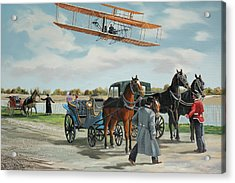 Wilbur Wright In France Acrylic Print by Kenneth Young