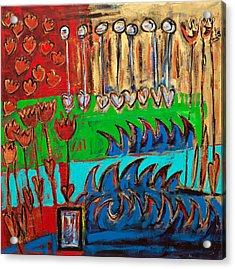 Wild Abstract Garden Acrylic Print by Maggis Art