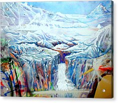 Acrylic Print featuring the painting Wild America by Steven Holder