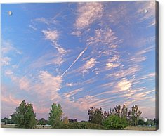 Wild And Crazy Sky Acrylic Print by John Norman Stewart