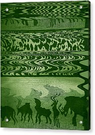 Wild  And Ziggy Animals In A Row  Acrylic Print by Anne-Elizabeth Whiteway