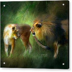 Wild Attraction Acrylic Print by Carol Cavalaris