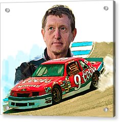 Acrylic Print featuring the painting Wild Bill  Bill Elliott  by Iconic Images Art Gallery David Pucciarelli