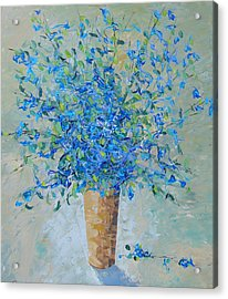 Wild Blue Floral Acrylic Print