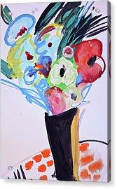 Wild Blue Flowers Acrylic Print by Amara Dacer