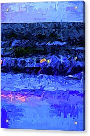 Wild Blue Sea Under The Lavender Sky Acrylic Print by Jackie VanO
