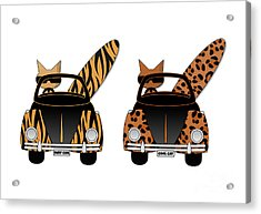 Wild Cats Go Surfing Acrylic Print
