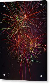 Wild Colorful Fireworks Acrylic Print