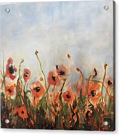 Wild Corn Poppies Underpainting Acrylic Print