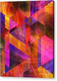 Wild Fire Acrylic Print by John Robert Beck