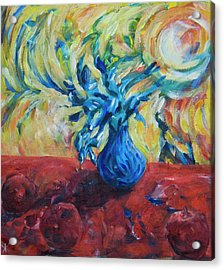 Acrylic Print featuring the painting Wild Flower by Yulia Kazansky