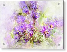 Wild Flowers In The Fall Watercolor Acrylic Print