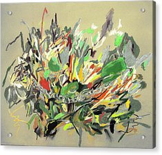 Wild Flowers  Acrylic Print by Tadeush Zhakhovskyy