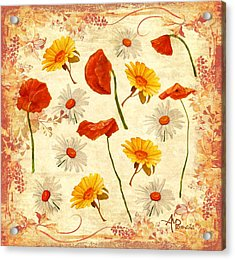 Wild Flowers Vintage Acrylic Print