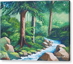 Wild Forest River Acrylic Print