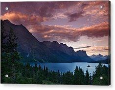 Wild Goose Island Glacier National Park Acrylic Print by Rich Franco