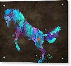 Acrylic Print featuring the digital art Wild Horses Couldn't Drag Me Away From You by Nikki Marie Smith