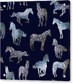 Wild Horses Acrylic Print by Varpu Kronholm