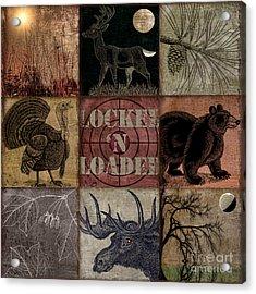 Wild Life Rustic Cabin Patchwork Acrylic Print