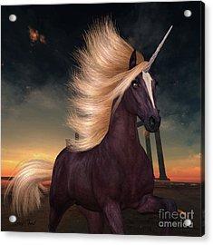 Wild Liver Chestnut Unicorn Acrylic Print