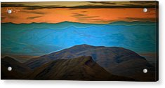 Wild Mountains - Da Acrylic Print by Leonardo Digenio