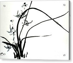 Acrylic Print featuring the painting Wild Orchid by Sibby S