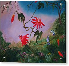 Wild Orchids Acrylic Print by Alanna Hug-McAnnally