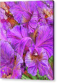 Acrylic Print featuring the mixed media Wild Orchids by Carol Cavalaris