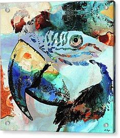 Wild Parrot Art By Sharon Cummings Acrylic Print
