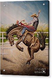 Wild Ride Bronc Acrylic Print