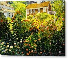 Wild Rose Country Acrylic Print by David Lloyd Glover