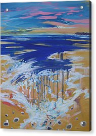 Wild Sea At Lahinch Acrylic Print by Eamon Doyle
