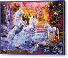 Wild Unicorns Acrylic Print by Jan Patrik Krasny