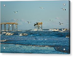 Wild Waves At Nags Head Acrylic Print
