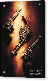 Wild West Cap Guns Acrylic Print by Jorgo Photography - Wall Art Gallery