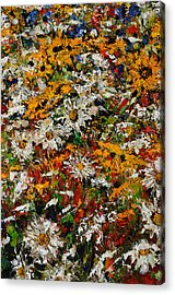 Wildchild Flowers Close-up Acrylic Print by Robert James Hacunda