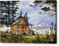 Wilderness Cabin Acrylic Print by James Williamson