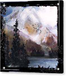 Wilderness Mountain Landscape Acrylic Print by Michele Carter