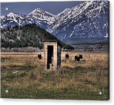 Wilderness Outhouse Acrylic Print