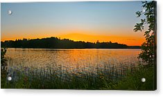 Wilderness Point Sunset Panorama Acrylic Print