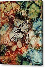 Acrylic Print featuring the painting Wilderness Warrior by Denise Tomasura