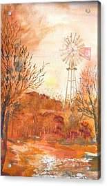 Acrylic Print featuring the painting Wilderness Windmill by Sharon Mick