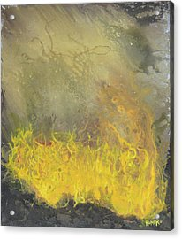 Acrylic Print featuring the painting Wildfire by Antonio Romero