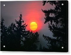 Wildfire Sunset Acrylic Print