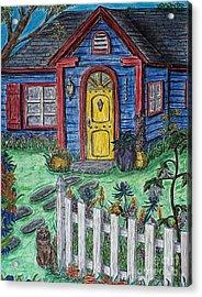 Wildflower Cottage Acrylic Print