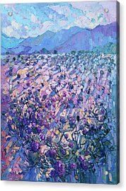 Acrylic Print featuring the painting Wildflower Dawn by Erin Hanson